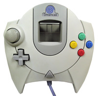 Genuine SEGA Dreamcast White/Grey Controller HKT-7700 - Blue