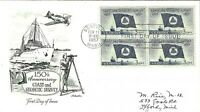 U.S. 1957 COAST & GEODETIC SURVEY Block of 4 #1088 on an Artmaster FDC Cachet