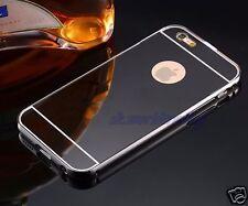 ALUMINIUM BUMPER METAL CHROME MIRROR BACK COVER CASE + GLASS APPLE IPHONE 7 IPOD