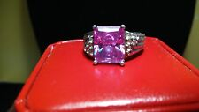 Vintage 925 sterling silver cubic zirconia ring. Size 8