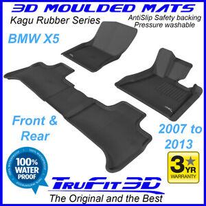 Fits BMW X5 E70 2007 - 2013 Black RUBBER 3D Car Floor Mats