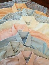 euc Charles Tyrwhitt sz 15 1/2 35  lot of 8 shirt blue white pink orange purple