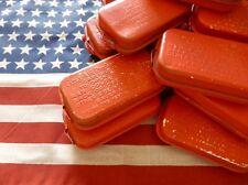 pansement boite métal rouge US WW2 FIRST AID PACKET ( Airborne USA Paratrooper )