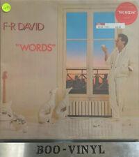 F.R. David - Words  CAL 145 UK LP 1st Press 1982 Carrere  FR  EX +