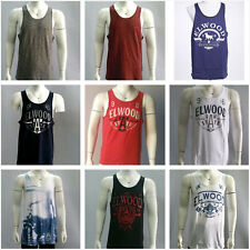 Elwood Mens Tank Top Gym Racerback Singlet Sleeveless Muscle Vest Shirt SZ S-XL