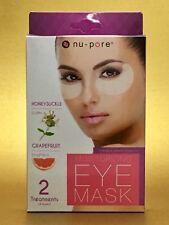 Nu-Pore MOISTURIZING EYE MASK Hydrates Tones Freshens Eyes 2 Treatments 4 Masks