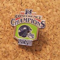 2013 NFC Conference Champions pin Seattle Seahawks NFL SB Super Bowl XLVIII 48