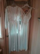 ed5095fea5 Vintage Light Ice Green Miss Dior Nightgown   Robe Set size Small