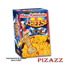 Penis Shaped Pasta MacAweenie & Cheese For Bachelorette Parties, 6.25 oz /175 gr
