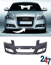 NEW AUDI A3 2009 - 2013 FRONT BUMPER WITH HEADLIGHT WASHER HOLES