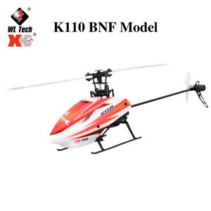 Wltoys XK K110 6CH 3D 6G System Single Paddle RC Helicopter BNF Aircraft Drone