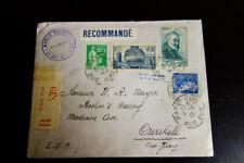 France Pristine 1933 Registered Cover Cresskill Nj Vf Condition