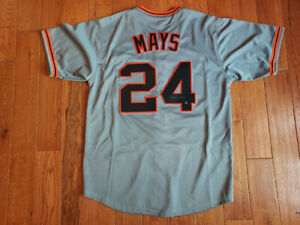 Willie Mays Signed New York Giants Custom Jersey Size XL Say Hey Hologram