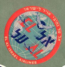 Airline luggage label Baggage Label Israel El Al  #598