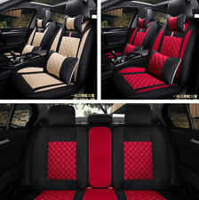 Deluxe 5-Seats Car SUV Seat Cover Cushion Front + Rear Breathable Linen Fabric