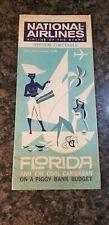 Vintage National Airlines System Timeline April 29, 1962 Florida & Caribbean