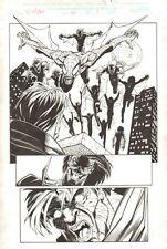X-Man #60 p.7 - Vampire Spider-Man vs. Morbius - 2000 Signed art by Ben Herrera