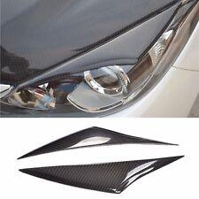 Real Carbon Fiber Headlight Eye Line Garnish For Mazda 3 Axela 2014~2016