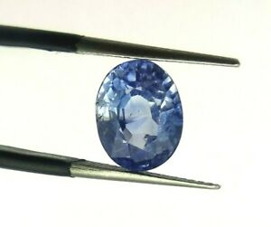 3.86 Ct Natural Blue Sapphire Loose Oval Cut 9*7 mm IGI Certified Sri Lankan Gem