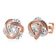 Women's Earrings 18K Rose Gold Filled Ear Stud Unique Jewelry 11mm