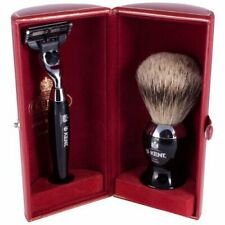Kent Horn Brush and Razor Shaving Set in Presentation Case