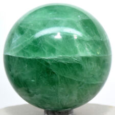 "2.3"" Rich Green Fluorite Sphere Natural Gemstone Crystal Mineral Ball from China"