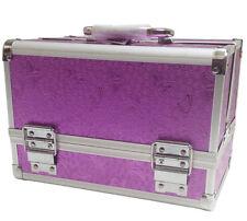 Rosa Púrpura Joyas bolsa de almacenamiento caja cosmética belleza de Maquillaje Caso Clavo vanidad
