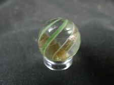 handmade marble,lutz,two shades of green,cold roll crease,3/4''