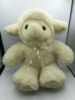 Kids Of America Corp Sheep Baby Lamb White Plush Soft Stuffed Toy Animal Bow Tie