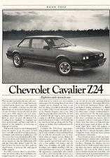 1985 Chevrolet Cavalier Z24 - Original Road Test Car Print Article J303