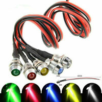 10 Pack 12V 8mm LED Indicator Light Lamp Bulb Pilot Dash Panel Car Truck Boat .N