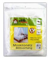 Betthimmel Moskitonetz | Insketen- und Mückenschutz | Reise Fliegennetz weiß