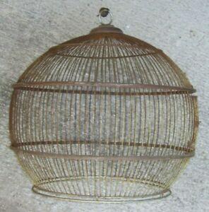 ANTIQUE VTG DOME WIRE PACIFIC BIRD CAGE MINUS BASE ALL ORIGINAL
