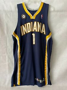 Dahntay Jones Game Used Autographed adidas Indiana Pacers Jersey