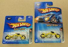 2005 Hot Wheels Rebel Rides Blast Lane 77 (Yellow) #2 of 5 SHORT & LONG Rare Lot