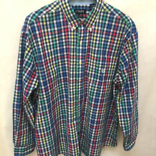 Chaps 3XB Shirt Mens Multi-Colored Check Easy Care Long Sleeve