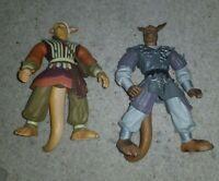 2 Ninja Magic Warriors Of Virtue Action Figures kangaroo men