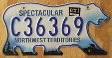 BEAR - NORTHWEST TERRITORIES CANADA license plate   2013   C36369