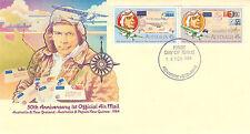 AUSTRALIA 22 FEBRUARY 1984 50th ANN FIRST AIR MAIL OFFICIAL FIRST DAY COVER SH