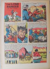 Lone Ranger Sunday Page by Fran Striker and Charles Flanders from 4/24/1955