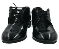 CAPPS WOMEN'S US MILITARY HIGH GLOSS BLACK DRESS SHOES, SIZE 8.5