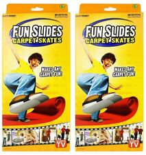 Fun Slide Set of 2 Carpet Skates! As Seen On Tv! 2 Pairs of Skates