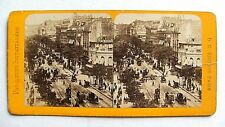 PHOTO STÉRÉOSCOPIQUE STEREOVIEW / PARIS : BOULEVARD DES ITALIENS
