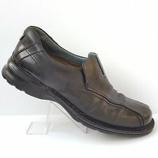 Clarks Escalade Black Leather Slip On Loafers Shoes Style 70845 Mens Size 12 M
