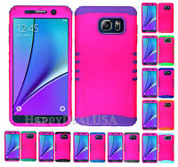 KoolKase Hybrid Silicone Cover Case for Samsung Galaxy Note 5 - Hot Pink (FL)