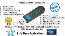 Microsoft Windows 10 Pro 32/64Bit USB Boot Install Drive & Genuine License