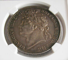 G.B - GEORGE IV -ONE CROWN 1821 SECUNDO -KM# 680.1-CERTIFIED BY NGC AU 55