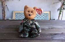 Military Hero Beanie Baby Bear USA America Patriotic Vintage Ty Plush Babies