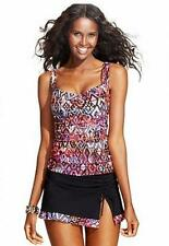 NWT   $172  Gottex PROFILE Aztec 32 D  Tankini top with Size 6  Skirted bottom