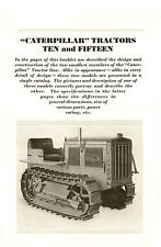 Caterpillar Ten & Fifteen Tractor Sales Book 1929